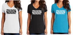 Picture of What's Your Story Women's V-neck Cotton Tee