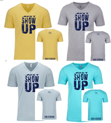Picture of Just Show Up - Men's V-neck T-shirt