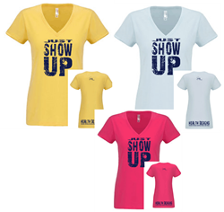 Picture of Just Show Up - Women's V-neck T-shirt