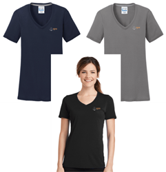 Picture of SPA Ladies Performance Blend V-Neck Tee