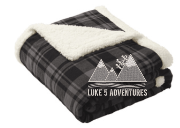 Picture of Luke 5 Adventures Flannel Sherpa Blanket